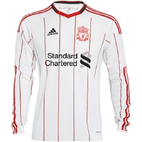 2010-11 Liverpool Adidas Long Sleeve Away Shirt (Kids)