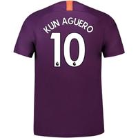 2018-2019 Man City Third Nike Football Shirt (Kun Aguero 10) - Kids