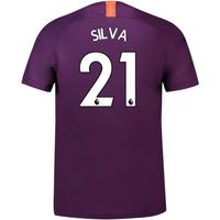 2018-2019 Man City Third Nike Football Shirt (Silva 21) - Kids