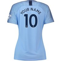 2018-2019 Man City Home Nike Ladies Shirt (Your Name)