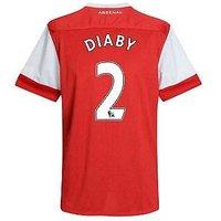 2010-11 Arsenal Nike Short Sleeve Home Shirt (Diaby 2) - Kids
