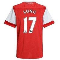2010-11 Arsenal Nike Short Sleeve Home Shirt (Song 17) - Kids