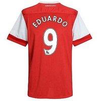 2010-11 Arsenal Nike Short Sleeve Home Shirt (Eduardo 9) - Kids