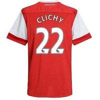 2010-11 Arsenal Nike Short Sleeve Home Shirt (Clichy 22) - Kids