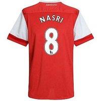 2010-11 Arsenal Nike Short Sleeve Home Shirt (Nasri 8) - Kids