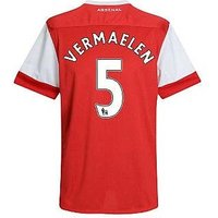 2010-11 Arsenal Nike Short Sleeve Home Shirt (Vermaelen 5) - Kid