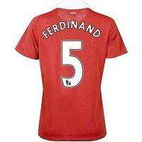 2010-11 Man Utd Nike Womens Home Shirt (Ferdinand 5)