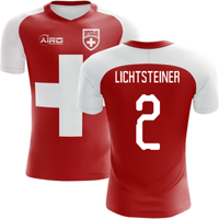2018-2019 Switzerland Flag Concept Football Shirt (Lichtsteiner 2) - Kids