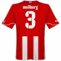 2010-11 Olympiakos Puma Home Shirt (Mellberg 3)