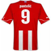 2010-11 Olympiakos Puma Home Shirt (Pantelic 9)