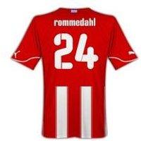 2010-11 Olympiakos Puma Home Shirt (Rommedahl 24)