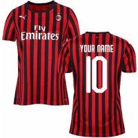2019-2020 Ac Milan Puma Home Womens Shirt (your Name)
