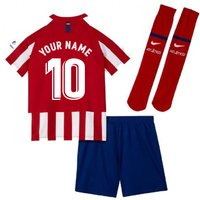 2019-2020 Atletico Madrid Home Nike Little Boys Mini Kit (Your Name)