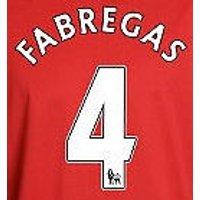2010-11 Arsenal Cesc Fabregas Home Shirt Printing