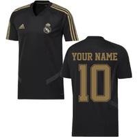 2019-2020 Real Madrid Adidas Training Shirt (Black) (Your Name)
