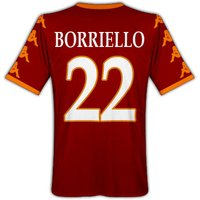 2010-11 Roma Kappa Home Shirt (Borriello 22)