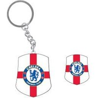 Chelsea FC Keyring And Badge Special Set