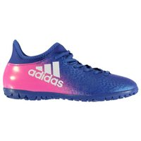 Adidas X 16.3 Mens Astro Turf Trainers (Blue-Pink)