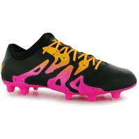 Adidas X 15.2 FG Mens Football Boots (Black-Shock Pink)