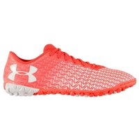 Under Armour CF Force 3.0 Mens Astro Turf Trainers (Coral-White)
