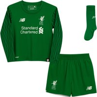 2017-2018 Liverpool Home Goalkeeper Mini Kit
