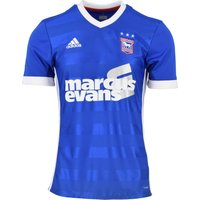 2017-2018 Ipswich Town Adidas Home Football Shirt