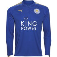 2017-2018 Leicester Puma Home Long Sleeve Football Shirt