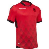 2017-2018 Albania Home Macron Football Shirt