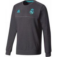 2017-2018 Real Madrid Adidas Sweat Top (Black)