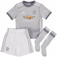 2017-2018 Man Utd Adidas Third Little Boys Mini Kit