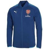2017-2018 Arsenal Puma Stadium Jacket (Blue)