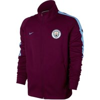 2017-2018 Man City Nike Authentic Franchise Jacket (True Berry)