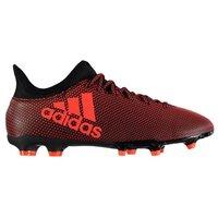 Adidas X 17.3 FG Mens Football Boots (Black-Orange)