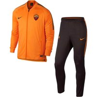 2017-2018 AS Roma Nike Dry Squad Tracksuit (Orange)
