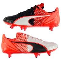 Puma evoSpeed 3.5 Leather SG Football Boots Mens (Red-Black)