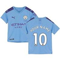 2019-2020 Manchester City Puma Home Football Shirt (Kids) (Your Name)