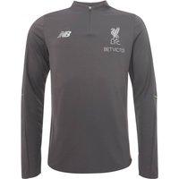 2018-2019 Liverpool Half Zip Midlayer Training Top (Grey)