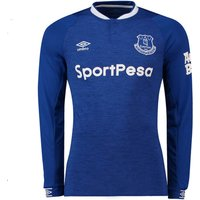 2018-2019 Everton Umbro Home Long Sleeve Shirt