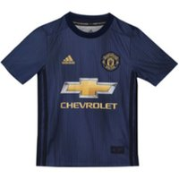 adidas Kids Manchester United FC 3rd Short Sleeve Jersey, Collegiate Night NavyMatte Gold, 140