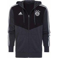 2018-2019 Bayern Munich Adidas 3S Hooded Zip (Carbon)