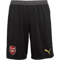 2018-2019 Arsenal Home Goalkeeper Shorts (Black)