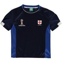 England FIFA World Cup Russia 2018 Poly T Shirt (Navy)- Kids