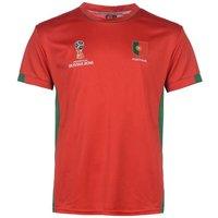 Portugal FIFA World Cup 2018 Poly T Shirt Mens (Red)