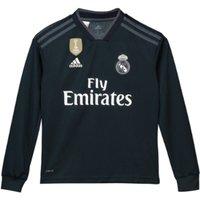 2018-2019 Real Madrid Adidas Away Long Sleeve Shirt (Kids)
