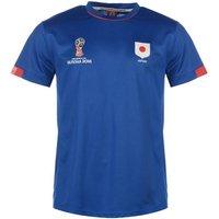 Japan FIFA World Cup 2018 Poly T Shirt Mens (Blue)