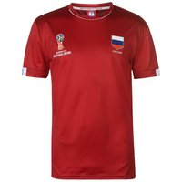 Russia FIFA World Cup 2018 Poly T Shirt Mens (Red)