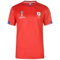 South Korea FIFA World Cup Russia 2018 Poly T Shirt Mens (Red)