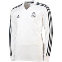 2018-2019 Real Madrid Adidas Training Top (White)