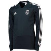 2018-2019 Real Madrid Adidas Training Top (Dark Grey)