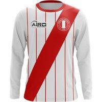 2018-2019 Peru Long Sleeve Home Concept Football Shirt (Kids)